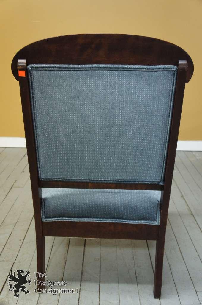 Antique Victorian Gentlemanu0027s Arm Chair U0026 Ottoman W/ Secret Compartment  Mahogany