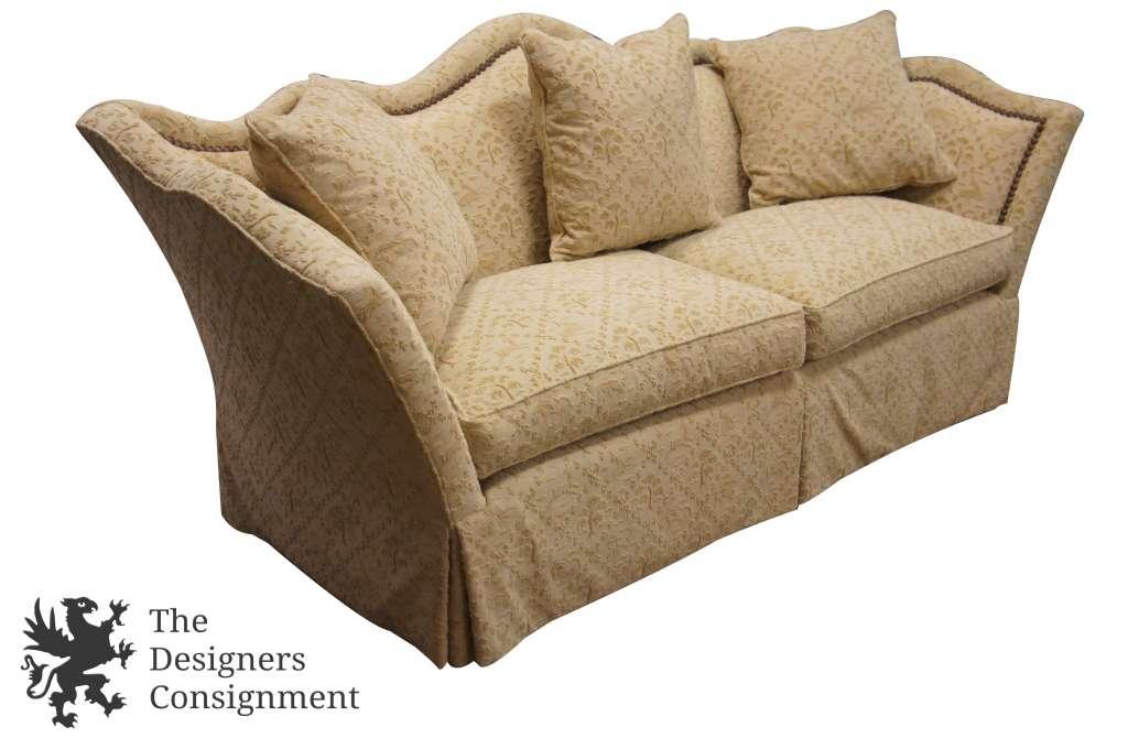 Century Furniture Camelback Sofa Animal Print Raised Gazelle Fabric Designer