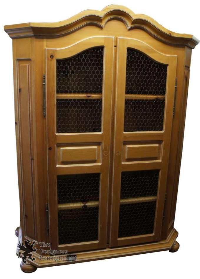 Large Solid Pine Furniture Wardrobe Armoire Cabinet Dresser By Arte De  Mexico